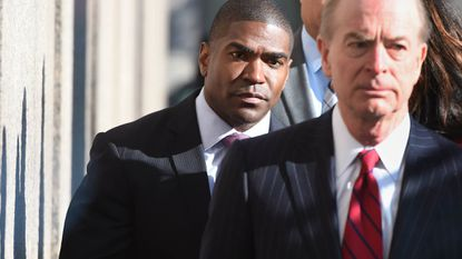 Former Baltimore County school superintendent Dallas Dance, left, has been released from jail.