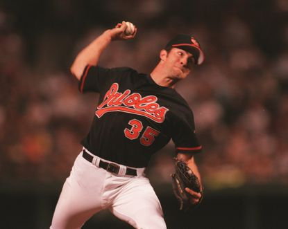 Orioles starting pitcher Mike Mussina.