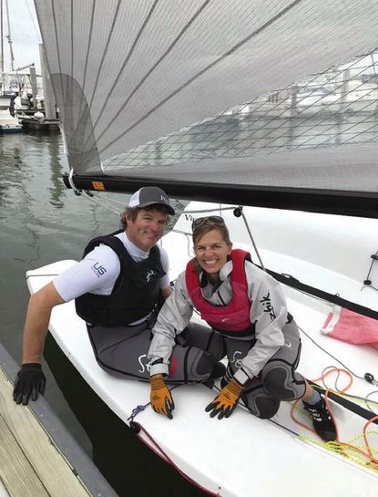 Geoff and Mary Ewenson aboard their Viper 640.