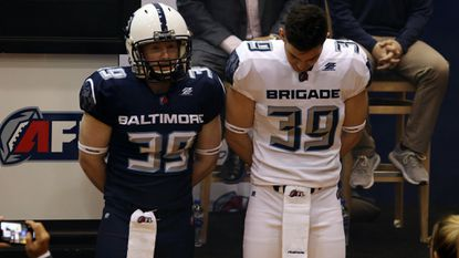 The Baltimore Brigade unveiled new uniforms along with the rest of the Arena Football League on Monday in Washington.