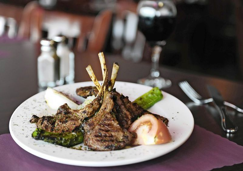 Grilled lamb chops, served at Rudy's Mediterranean Grill & Diner in Columbia.