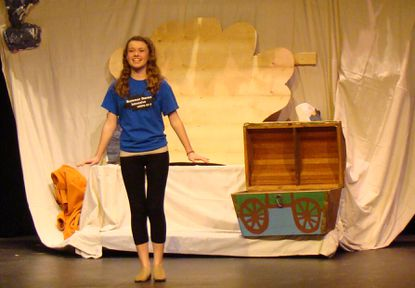 Geneva Croteau performs as Ariel in a rehearsal for the Children¿s Theatre of Annapolis production of ¿The Little Mermaid Jr.,¿ opening April 12.