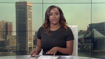 New anchorwoman, set, graphics debut at WJZ-TV today and tomorrow