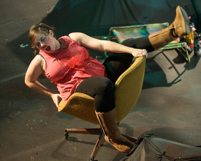 """Genevieve de Mahy as Mrs. Smith in """"Social Creatures"""" at Single Carrot Theatre."""