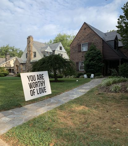 Residents in Stoneleigh have taken to placing signs with simple messages on their lawn in association with National Suicide Prevention Awareness Month.