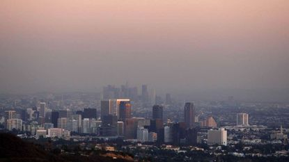 A thick layer of smog hangs over the Century City area of Los Angeles in this 2007 file photo.