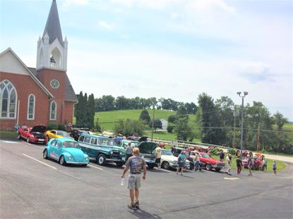 Emmanuel Baust United Church of Christ will hold its annual antique car and tractor show and peach festival, pictured in 2018, on Saturday, Aug. 24 from 10 a.m. to 3 p.m.