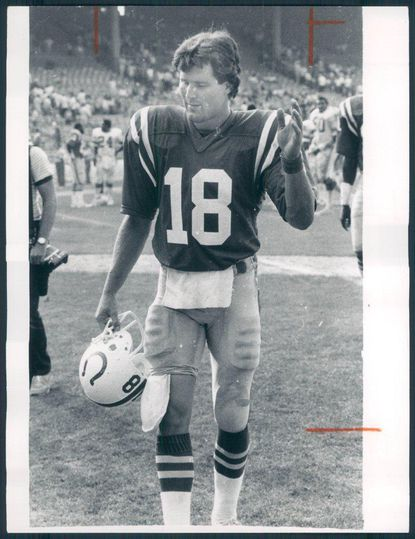 Baltimore Colts quarterback Mike Pagel seen here in 1983.