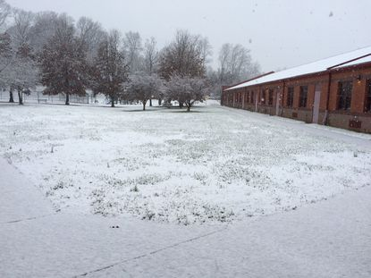 Snow fell the day before Thanksgiving at Jacksonville Elementary.