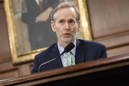 Dr. Tom Inglesby, director of the Bloomberg School of Public Health at the Johns Hopkins Center for Health Security, speaks during a briefing on the developments of the novel coronavirus, also known as COVID-19, from medical and research staff from Johns Hopkins University on Capitol Hill on March 6 in Washington.