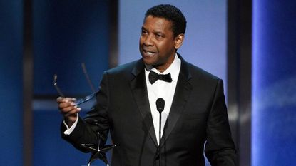 Actor Denzel Washington addresses the audience during the 47th AFI Life Achievement Award ceremony honoring him at the Dolby Theatre, Thursday, June 6, 2019, in Los Angeles.