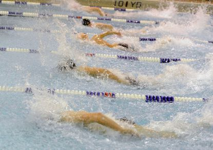 Swimmers were back in the pool Wednesday night.