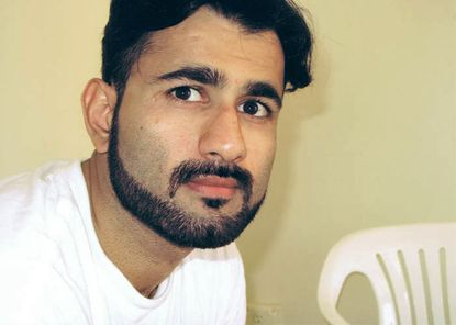 This September 2009 photo, courtesy of the Center for Constitutional Rights, shows Majid Khan while imprisoned at the U.S. Navy base at Guantanamo Bay in Cuba.