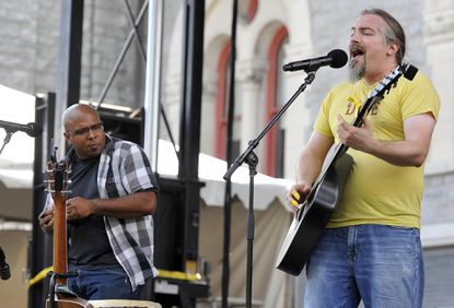 The band ilyAIMY performs onstage at last year's Artscape. Baltimore's free annual arts festival was one of nine area nonprofits receiving a total of more than $2.5 million in grants, the National Endowment for the Arts announced Wednesday.