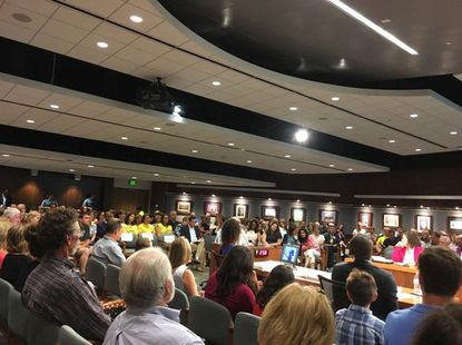 With a large turn-out for the July 17 Howard County Council meeting, hearings on several bills were extended to Sept. 11.