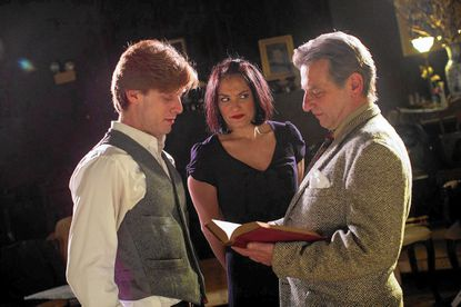 Moonlight and Magnolias with (from left) David Shoemaker, Rachel Roth and Tony Colavito.