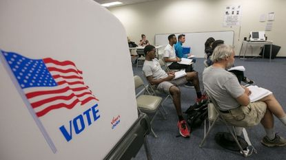 Howard County election judges take a training class before the primary in June.