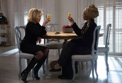 """Jessica Lange (left) as Fiona and Angela Bassett as Marie on """"American Horror Story: Coven."""""""