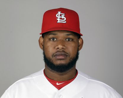 This is a 2016 photo of Jayson Aquino of the St. Louis Cardinals baseball team. The Cardinals traded left-handed pitcher Jayson Aquino to the Orioles for cash Thursday, April 7, 2016.