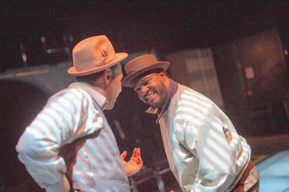 "Christopher Dews (Left) and Samuel Dumarque Wright in ""Something like Jazz Music"""