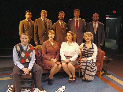 """The cast of """"The Unexpected Guest, """" The Colonial Players' Season Opener."""