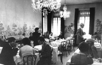 Maison Marconi's on West Saratoga Street, shown in the late 1970s. The restaurant closed in 2005.