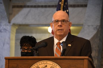 In March, Gov. Larry Hogan announced $3.9 billion in federal aid from the American Rescue Plan will be added to the state budget for programs including unemployment, emergency relief, broadband internet and infrastructure. On June 1 and in a significant reversal, he announced that enhanced federal unemployment payments will be curtailed in early July. (Pamela Wood/Baltimore Sun).