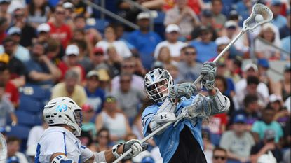 Cole Williams, right, a sophomore attackman for the Johns Hopkins men's lacrosse team who had 35 goals and 14 assists this past spring, will be a key returner for the Blue Jays in 2019.
