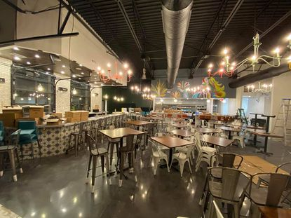 The interior of Mucho Gusto, a Mexican restaurant opening soon on Bel Air Road near the Conrad's Crabs Seafood Market shopping center, is shown.