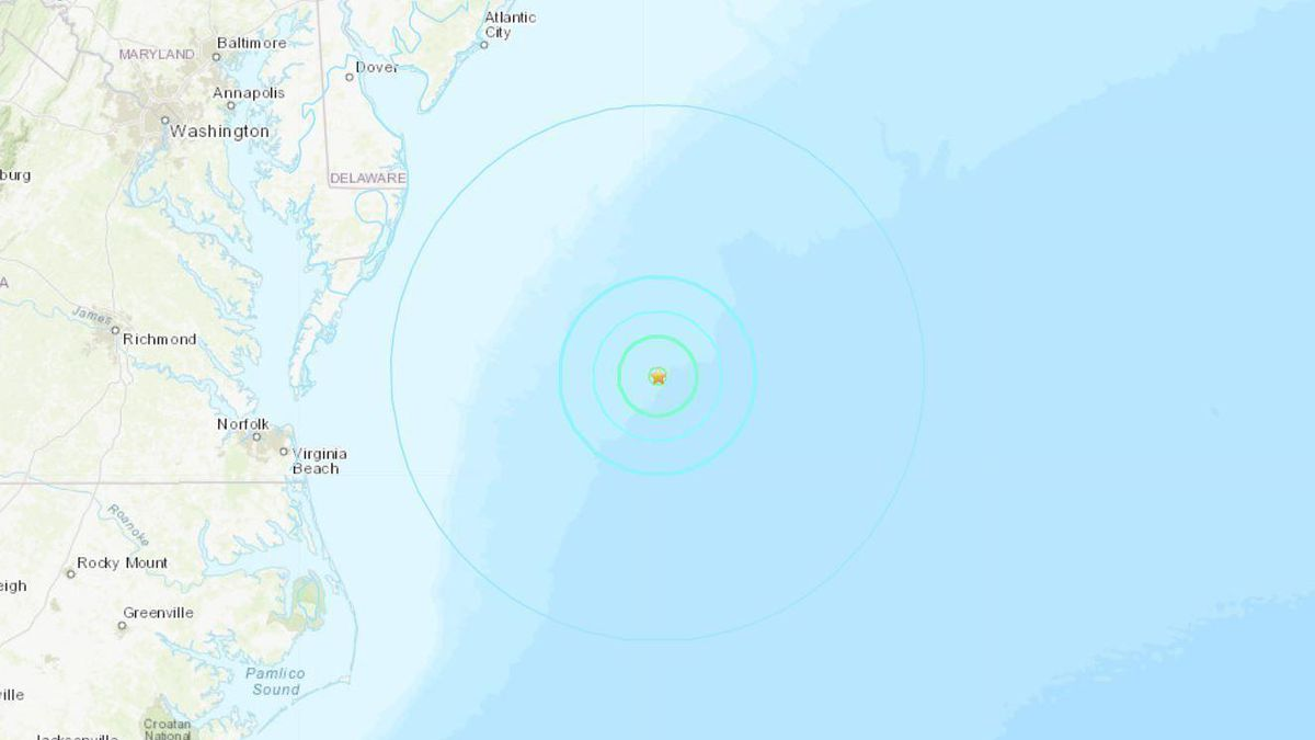 Five things to know about the earthquake off Ocean City