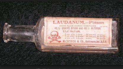 Laudanum bottle from 1909.
