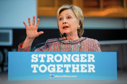 Democratic presidential candidate Hillary Clinton speaks while visiting Galvanize, a work space for technology companies, in Denver, Tuesday, June 28, 2016. While there Clinton said the House Benghazi committee found nothing different than previous investigations into Benghazi. (AP Photo/Andrew Harnik)