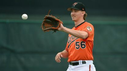 Orioles prospect Hunter Harvey making first career relief appearance to control innings, try out new role