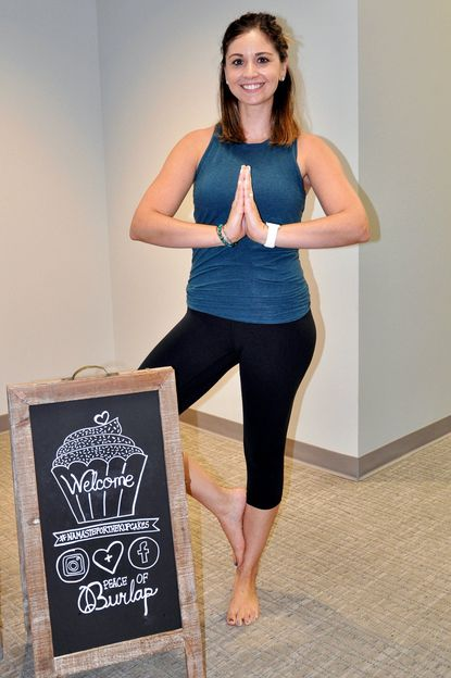 Registered yoga teacher Kristina Eberhardt created and will lead Namaste for the Kupcakes on Jan. 17 and 31 at 5 p.m. in the Clarksville Commons Community Room.