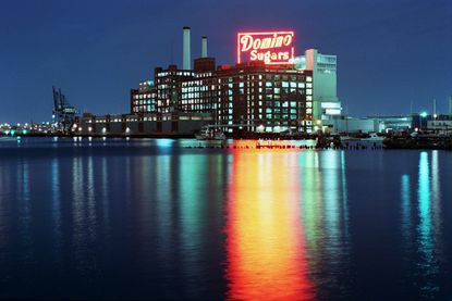 The Domino Sugars sign is pictured here in July 1996.