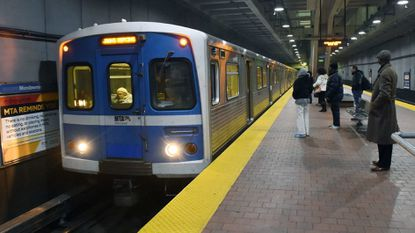 A train bound for Johns Hopkins pulls into the Mondawmin Metro Subway Station in this file photo.