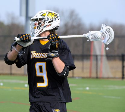 Towson sophomore Jon Mazza, pictured, scored six goals in the season-opening win over Mount St. Mary's.