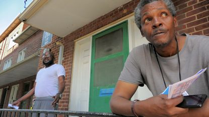 Calvin Smith and Henry Jones were some of the residents of Poe Homes in West Baltimore who were left without water for several days after a main break.