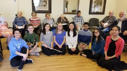 Golden Melody club with some seniors from Angel's Touch Assisted Living.
