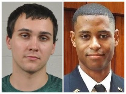Sean Urbanski, left, has been charged with the murder of Richard Wilbur Collins III at the University of Maryland, College Park on Saturday.