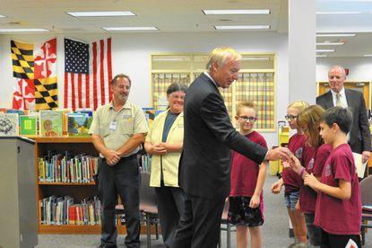 Maryland Comptroller Peter Franchot visited Cranberry Station Elementary School Sept. 12, 2016.