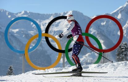 Kikkan Randall during a training session at the Laura Cross Country Stadium at the Sochi 2014 Olympic Games. (Hendrik Schmidt/EPA Photo)