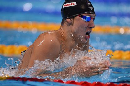 Bel Air native Chase Kalisz competes in the final of the men's 400-meter individual medley swimming event in the FINA World Championships at Palau Sant Jordi in Barcelona.