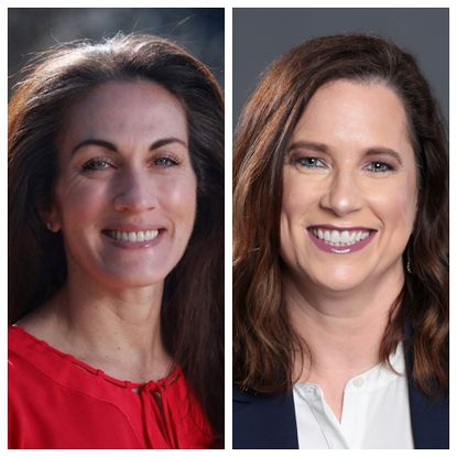 Sezin Palmer, left, and incumbent Jen Mallo are running against each other for the District 4 seat on the Howard County Board of Education.