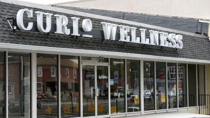 Curio Wellness, a medical marijuana dispensary, stands on York Road in Lutherville-Timonium.
