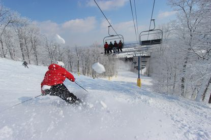 Skiing at lifts at Liberty Mountain Resort in Carroll Valley, Pa.