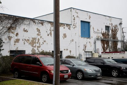 The old Annapolis Department of Public Works building on Spa Road, built in the 1950s, was torn down. The City Council took initial steps Monday to approve funding for the purchase of a new public works facility on Hudson Street.