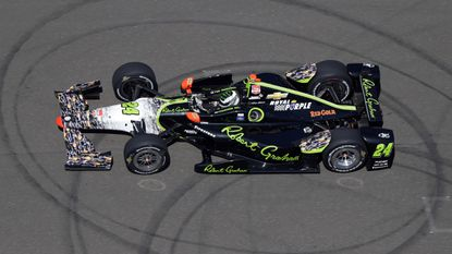 Townsend Bell takes part in an Indianapolis 500 practice session at Indianapolis Motor Speedway on Friday.