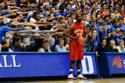 James Padgett is taunted by Duke fans.