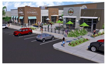 A rendering of the planned seafood restaurant called The Gourmet at Kenilworth, which will be the newest addition to The Shops at Kenilworth in Towson. - Original Credit: For The Baltimore Sun